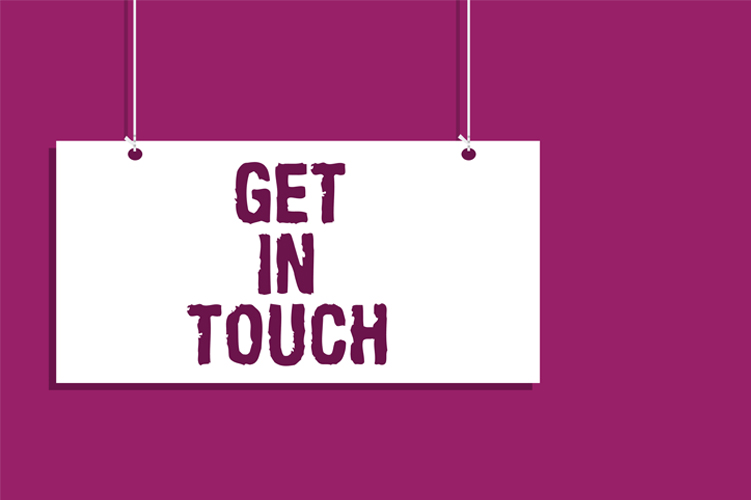 Get in touch image